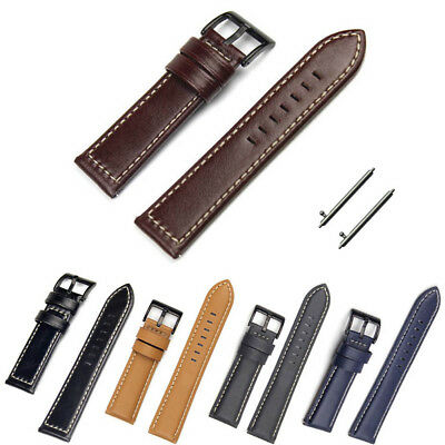Genuine Leather Replacement Band Strap for Pebble Time Steel