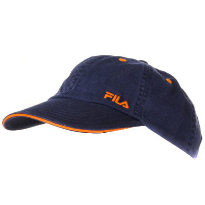 Boys Fila Embroidered Logo Navy Velcro Strap Baseball Cap Kids Size