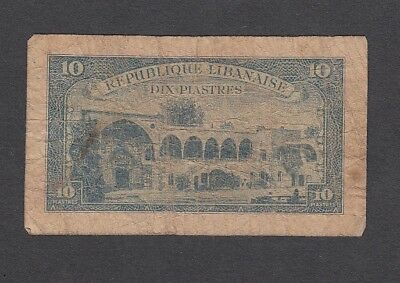 10 Piastres From Lebanon A6