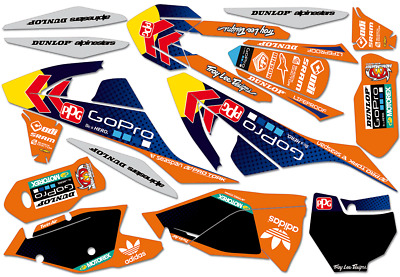 KTM SX SXF EXC 125 250 300 350 450 2017 2018- AMA MX DEKOR Decals KIT Motocross