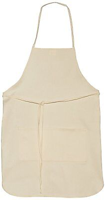 """Canvas Adult Apron with Pocket 20""""x28"""" 100% Cotton - Pack of 12"""