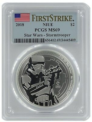2018 Niue 1oz Silver Star Wars Stormtroopers Coin PCGS MS69 - First Strike