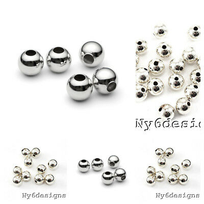 Beads & Jewelry Making Jewelry & Accessories 100pcs Metal Beads Smooth Ball Spacer Beads For Jewelry Making 3 4 5 6 8 10mm Gold/silver/bronze/silver Bead Jewelry Findings