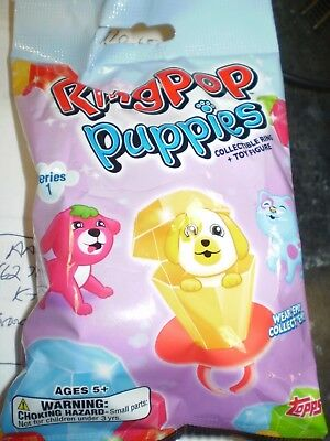 2018 Topps Series 1 Ring Pop Puppies  1 Sealed Bag Collectible Ring+ Toy Figure
