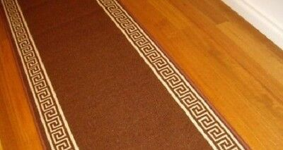 Hallway Runner Hall Runner Rug Modern Brown 8 Metres Long Can Cut To Any Size 61