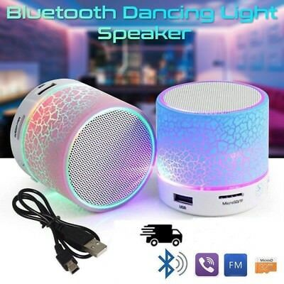 Luminous Lights Rechargeable Wireless Bluetooth Speaker Mini Super Bass U/A