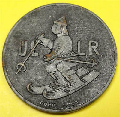 NATIONAL SKI PATROL Good Luck Token-Medal CROSS / ULLR Pictorials 32mm WG1045