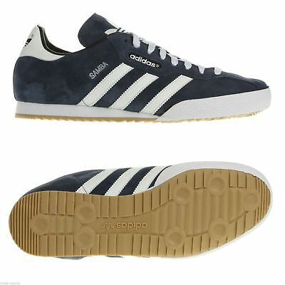 00a6b46ff99 adidas ORIGINALS NAVY SAMBA SUPER TRAINERS MEN S SNEAKERS SHOES FOOTBALL  BLUE