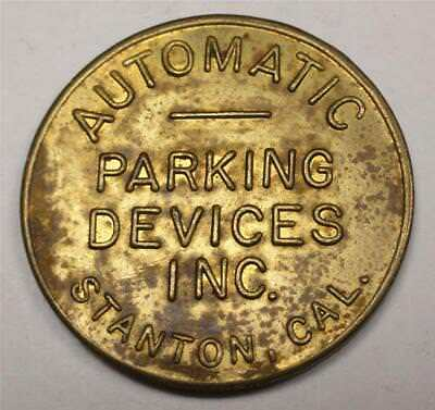 STANTON CALIFORNIA Trade Token AUTOMATIC PARKING SERVICES INC. 26mm WG1023