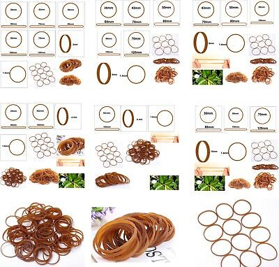 Natural Rubber Strong Elastic Bands 3mm 4mm 5mm 6mm 8mm 10mm Width Eco Quality
