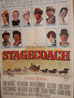 Stagecoach 1-Sheet Poster Ann Margret Red Buttons Alex Cord Crosby Pickens Wynn