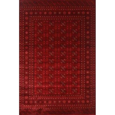 Hallway Runner Hall Runner Rug Traditional Afghan Red 4 Metres Long x 80cm 6890