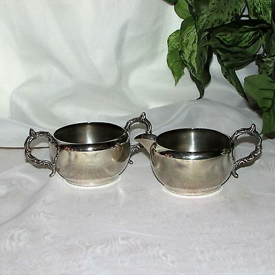 Vintage Silverplate Cream & Sugar Set Viking Plate Canada Creamer Silver Tea