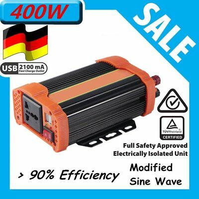 400W Car Power Inverter DC12V to AC220V Modified Charger Power Converter QX