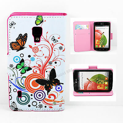 Magnetic Wallet Slots Leather Phone Stand Cover Case For LG Optimus L7 II P715