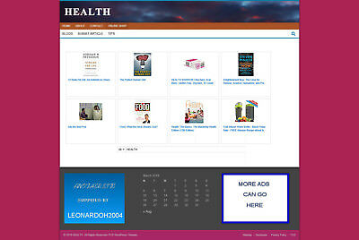 Health Supplies Affiliate Store Website & Blog With Free Domain + Hosting
