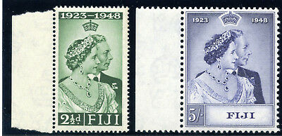 Fiji 1948 KGVI Silver Wedding set complete superb MNH. SG 270-271. Sc 139-140.