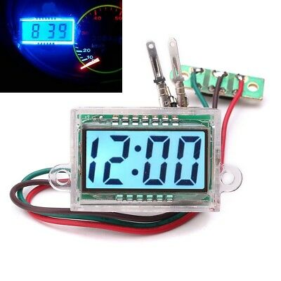 12V Waterproof Digital LCD Dashboard Auto Car Truck Time Motorcycle Travel Stick