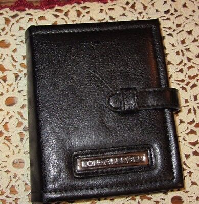 Longaberger BLACK FAUX LEATHER Photo Wallet / Credit Card  & ID Holder NEW