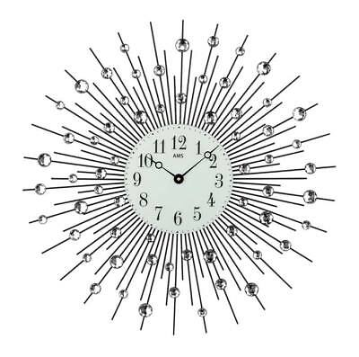 AMS 9380 - Wall Clock - Metal  - XXL Clock - Quiet Clock - New