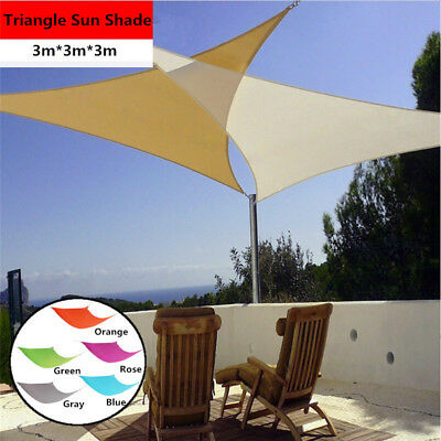 Shade Sail Triangle Sun Canopy Patio Awning Garden Shelter Cover Screen 90% UV