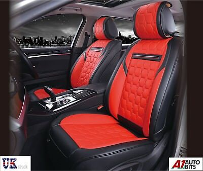 Sensational Deluxe Red Pu Leather Front Seat Covers Padded For Land Squirreltailoven Fun Painted Chair Ideas Images Squirreltailovenorg