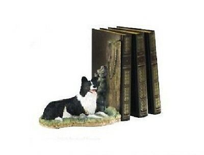 Border Fine Arts Collie Keeping Watch Bookend A8900 Mib