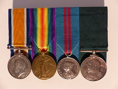1914-18 Wwi Canada Grouping Medals X4