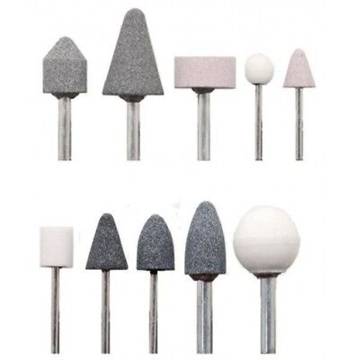 Set 10 Frese Kit Accessori Per Mini Trapano Smerigliatrice Metallo Dremel dfh