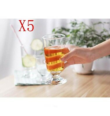 New 5X Capacity 300ML Height 150MM Transparent Beer Wine Glass/Glassware %