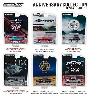 Greenlight Anniversary Collection Series 6 1/64 Diecast Cars By Greenlight 27940