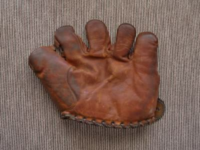 >Old/Scarce 1930's ED BRANDT Wilson Baseball Glove Split-Finger BOSTON BRAVES