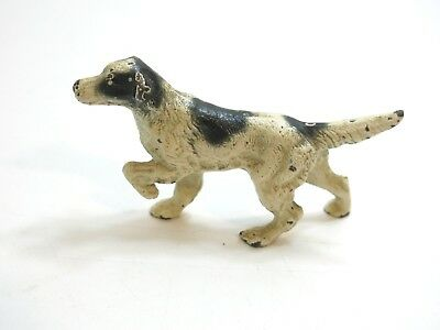 Vintage Antique Hubley Cast Iron English Setter Pointer Dog Paperweight 4 1/2""