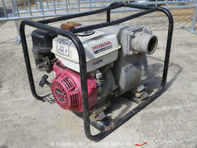 "2013 Honda WT30X Portable 3"" Trash Water Pump 8HP Gas Engine Honda GX240 bidadoo"