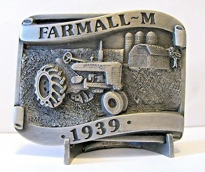 1939 IH International Harvester Farmall M Tractor Belt Buckle LtEd  Rock Island