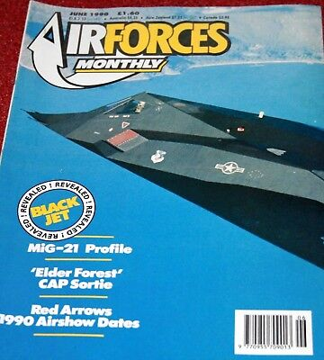 Air Forces Monthly Magazine 1990 June Belgian Air Force,F-117A Nighthawk,Mig-21