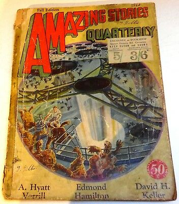 Amazing Stories Quarterly - US bedsheet pulp - Fall 1929 - Vol.2 No.4 - Hamilton