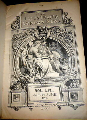 The Illustrated London News 1870. India, China, Ireland. Dickens, etc. Bound