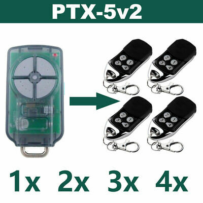1x 2x PTX-5v2 ATA Garage Door Remote Control TrioCode128 PTX5 Replacement