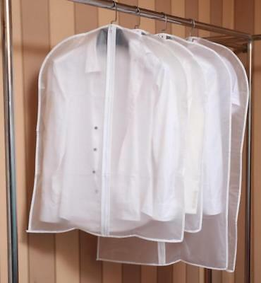 Plastic Clear Dust-proof Cloth Cover Suit/Dress Garment Bag Storage Protector #r