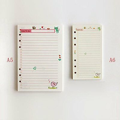 DadaCraftsTM A5/A6 Cute To-Do List Planner Organizer Refills Papers for 6-Rings