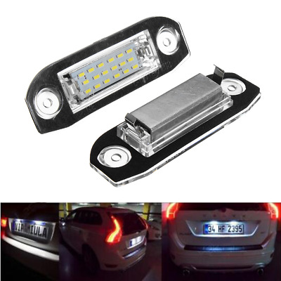 Pair License Number Plate Light Lamp For Volvo S80 S60 V60 V50 S40 XC90 V70 C70