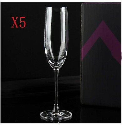 New 5X Capacity 250ML Height 265MM High Foot Champagne Wine Glass/Glassware %