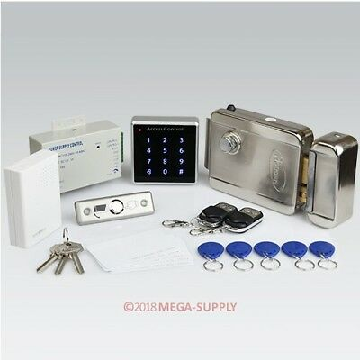 Remote Controlled RFID Door Access Control System Kit + Electric Lock + Doorbell