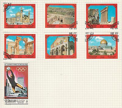 SHARJAH COLLECTION Olympics, Historical Landmarks,as per scan, removed to send #