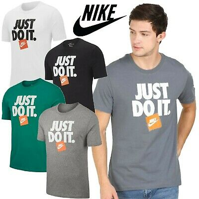 New Nike ICONIC JUST DO IT GYM Mens Sports Short Sleeve Cotton T-SHIRT S-M-L-XL