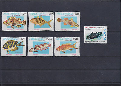 060223 Fische Fish ... Mocambique 706-11 + 1411 ** MNH Year 1979 + 1998