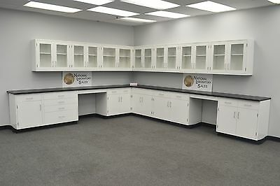 Laboratory 24' WALL 29' BASE CABINETS / FURNITURE / Case Work / Benches / Tops.