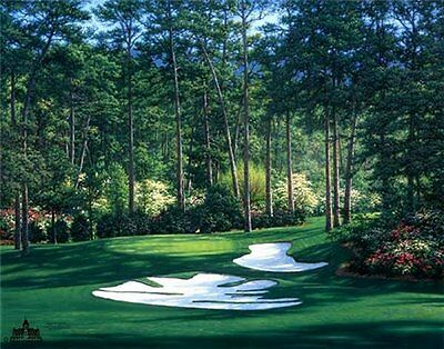 "5""x7"" Augusta National golf print of 10th hole at Augusta MASTERS free shipping"