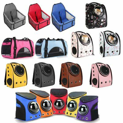 Pet Cat Dog Breathable Capsule Astronaut Backpack Mesh Carrier Bag Car Travel